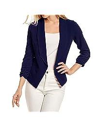 Liliko Women's Blazer Workwear Boyfriend Tailored Coat Jacket Long-Sleeved Button Slim Suit Cardigan