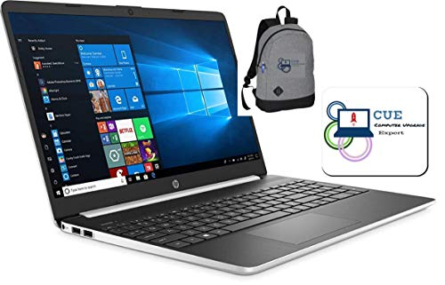 """2020 HP 15.6"""" Touchscreen Laptop Computer, 10th Gen Intel Quad Core i5-1035G1 up to 3.6GHz, 802.11ac WiFi, HDMI, Windows 10 + CUE Backpack & Mouse Pad (8GB DDR4, 512GB SSD)"""
