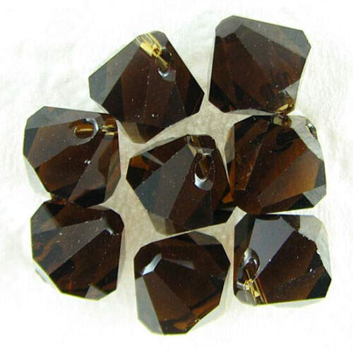 8 8mm Swarovski Crystal bicone 6301 Mocca Beads