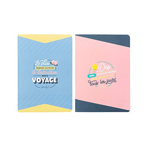 Mr. Wonderful Set of 2 A5 Notebooks - The Most Important It's Not The Destination But The Journey/Ideas Like Miens, We Don't See Every Day (Its Not The Destination Its The Journey)