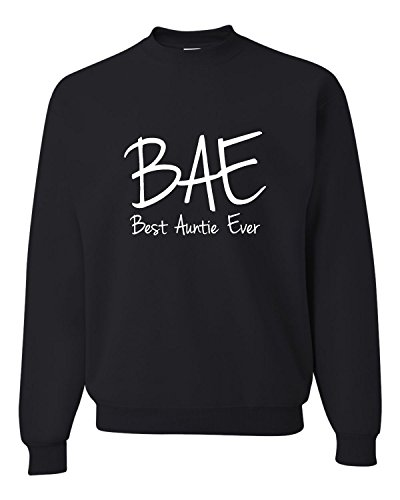 Medium Black Adult Best Auntie Ever Funny Aunt Sweatshirt (Aunt Sweatshirt)