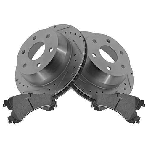 Rotor & Brake Pad Posi Metallic Performance Drilled Slotted Rear Kit