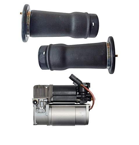 Air Suspension Compressor Pump + 2PCS Air Suspension Springs RQG100041 & RKB101200: