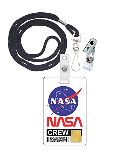 (NASA Crew Novelty ID Badge Film Prop for Costume and Cosplay • Halloween and Party)