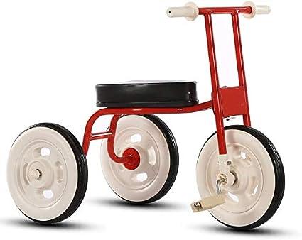 XCG Retro Simple de Triciclo Infantil del bebé 1-3-4 años Interiores de automóviles Cochecito de bebé de Edad (Color: Blanco),Red