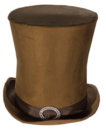Jay Hats Costume Accessory - Candyman Style Brown Suede Tall Hat Top Hat]()
