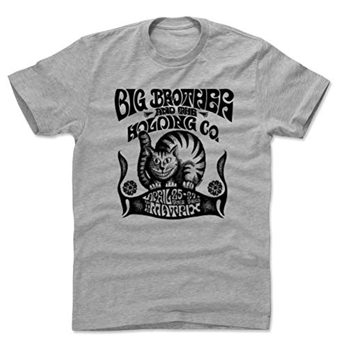 Big Brother and The Holding Company Shirt (Cotton, Large, Heather Gray) - Big Brother and The Holding Company Cat K (Big Brother And The Holding Company Tour Dates)