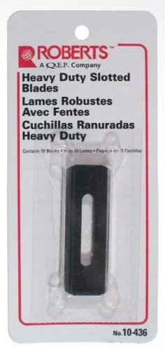 Roberts Carpet Tools Heavy Duty Blue Slotted Blades  10-436
