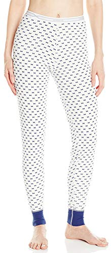 (Hanes Plus Size Women's X-Temp Thermal Pant, Bow Print, Large)