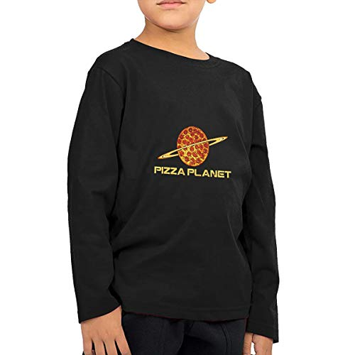 Cnfoldjfong Pizza Planet Toddler Long Sleeve T-Shirt for Boys & Girls
