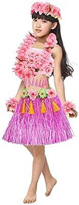 SinceY Falda Hawaiana Niña Set De Rendimiento para Niños De Hawai ...