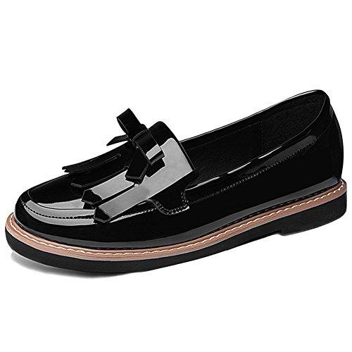 Round Low Walking Black Fringe Low Heels Women and Casual U Width Toe Sneakers MAC Shoes Platform Shoes pwBq160PW4