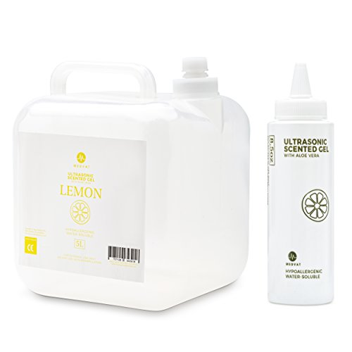 - Medvat Clear Transmission Gel - Lemon Scented - 5 Liter Container - Includes 8-oz. Refillable Bottle