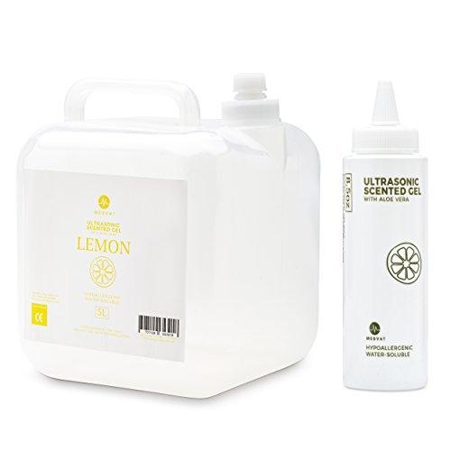 Medvat Clear Transmission Gel - Lemon Scented - 5 Liter Container - Includes 8-oz. Refillable Bottle