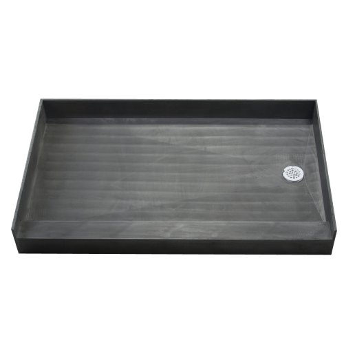 Tile Redi Shower Pan (Tile Redi 3060RBO Shower Pan with Integrated Right Hand Side PVC Drain, 30-Inch Depth by 60-Inch Width)