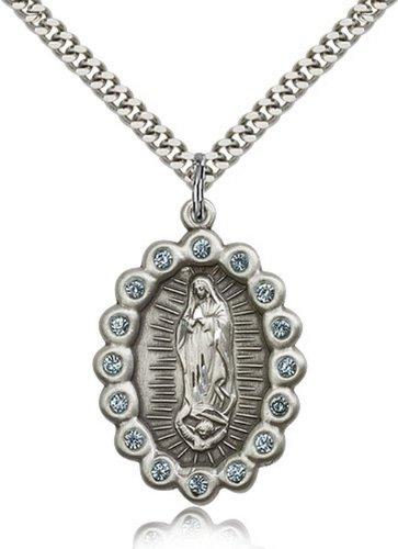 Icecarats Créatrice De Bijoux En Argent Sterling O / L De Guadalupe Pendentif 1 1/4 X 7/8 Pouces