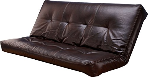 Leather 5000 Series Futon Mattresses Vertical 8 Inch Innerspring Full Size - Pad Innerspring Futon