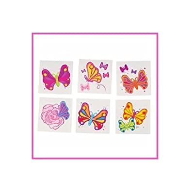 "2"" BUTTERFLY TATTOOS: Toys & Games"