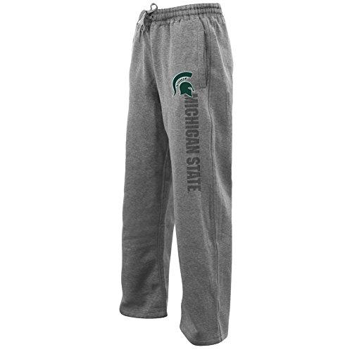 - Elite Fan Shop Michigan State Spartans Fleece Sweatpants Gray - XL