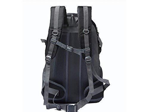 Mode-Unisex-Reiserucksack, Outdoor- und Indoor-multifunktionaler Outdoor-Reiserucksack mit großer großer großer Kapazität zum Wandern, Klettern (Schwarz) cc0310