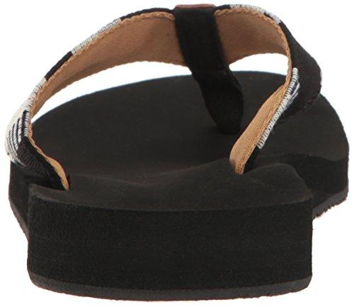 Reef Cushion Threads Tx, Sandalias para Mujer, Negro (Black/White), 35 EU