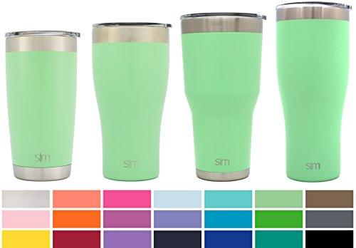 Monogrammed Tumbler - Simple Modern 22oz Slim Cruiser Tumblers - Vacuum Insulated Travel Mugs Personalized Canteen - 22 ounces Double Wall Green 18/8 Stainless Steel - Mint
