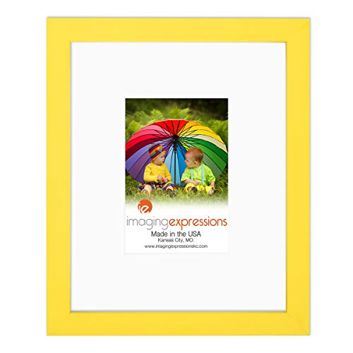 Imaging Expressions - Yellow Picture Frame 8x10 -