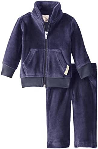 L'ovedbaby Unisex Baby Organic Cotton Velour Track Suit