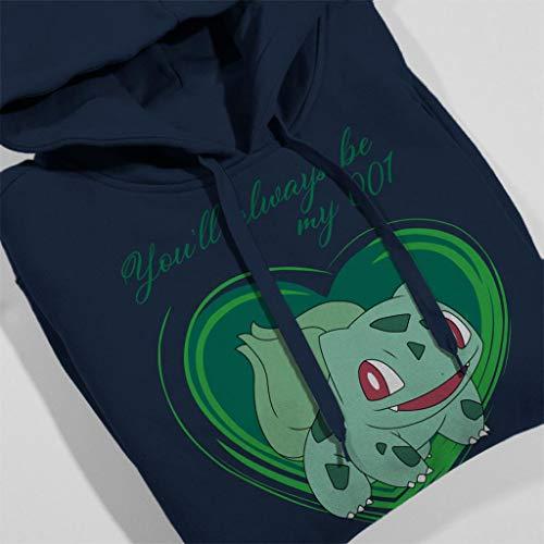 Blue Sweatshirt Men's Navy Bulbasaur Love Hooded Pokemon YBA7q7