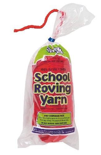 Trait-tex 3-Ply School Roving Yarn Skein, Red, 150 (Pacon Acrylic Roving Yarn)