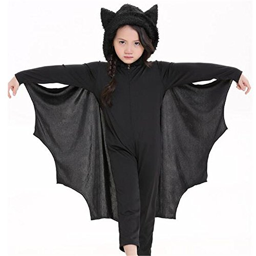 Fat Lady Devil Costume (Kids Bat Halloween Party Animal Costume Outfits (L))
