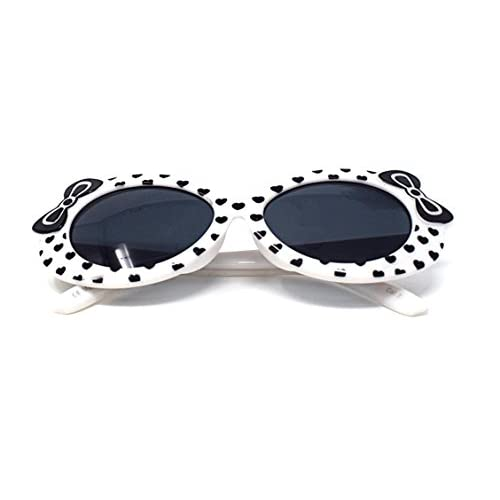 1 x 1 rojo x blanco color niños niños niñas elegante lindo diseñador estilo gafas de sol de alta calidad con un arco y un corazón estilo UV400 gafas de sol de tonos protección UVA UVB