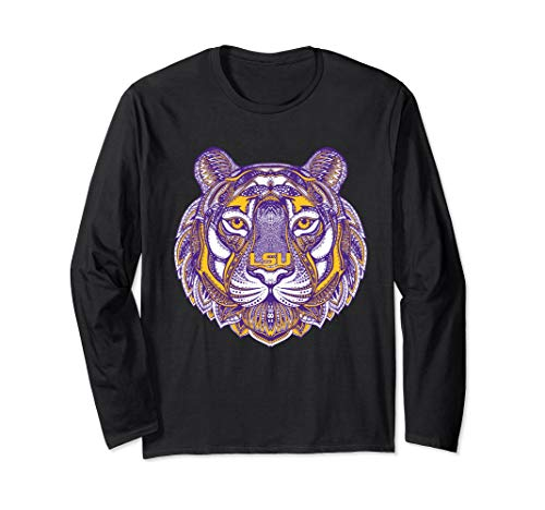 LSU Tigers Mandala Pattern Long Sleeve T-Shirt - Apparel