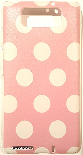 Case+Film+Stylus+Wrap+Cap Hard BACK Snap on Cover Fits Motorola XT1080 Droid Ultra White Polka Dots onLight ()