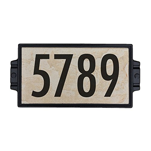 Sandy Stone Address Plaque 4 by Craftsman House Numbers