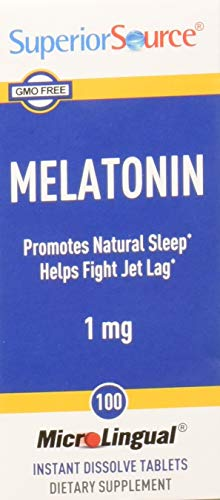 - Superior Source Melatonin 1mg With Chamomile Instant Dissolve Tablets - Non Addictive Sleep Aid - Sublingual Melatonin - Natural Sleeping Pills for Adults 100 Count