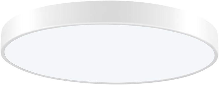 Viugreum LED Flush Mount Ceiling Light, 15.74-inch 28W 1680 Lumens Round Panel Light,6000K (Daylight White) Downlights Lighting Fixture for Kitchen,Hallway,Bathroom,Stairwell