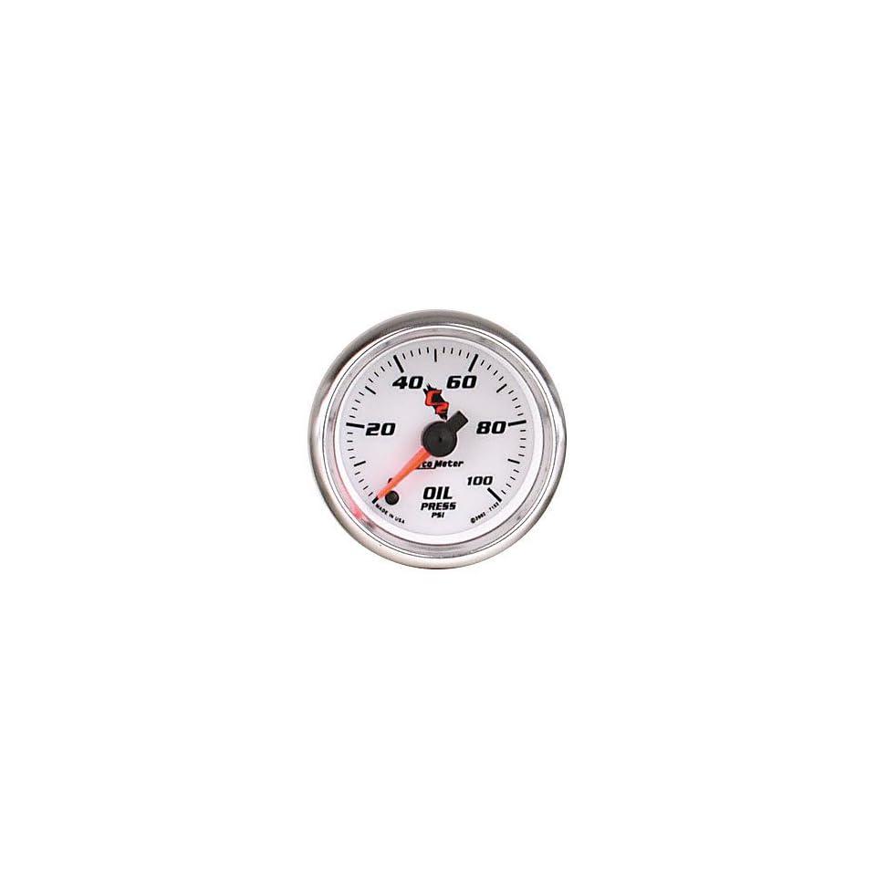 Auto Meter 7153 C2 2 1/16 0 100 PSI Full Sweep Electric Oil Pressure Gauge