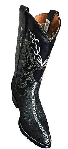 Western Men Genuine Leather Handmade Stingray Print Boots_ (Ray Western Print)
