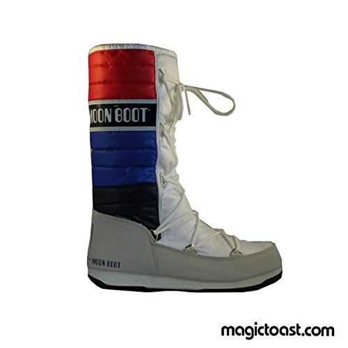 WE Moonboot Moon Shoes Quilted Boots UK Red Blue Womens 6 5 Snow White rFnxOwrCq