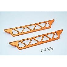 Traxxas X-Maxx 4X4 Upgrade Parts Aluminum Side Trail - 2Pcs Set Orange