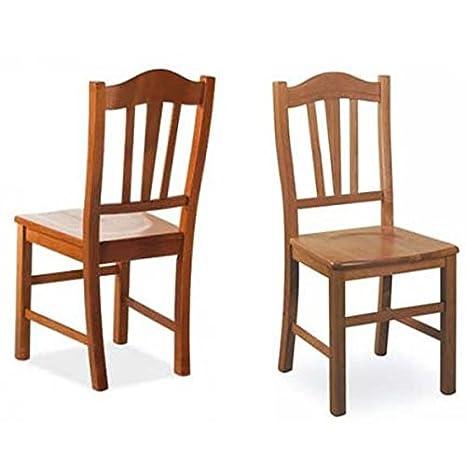 Sedia da pranzo Silvana massello in legno di faggio color ...