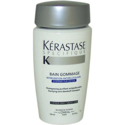 Kerastase Specifique Bain Gommage Anti pellicules Shampoing, Cheveux gras, 8,5 once
