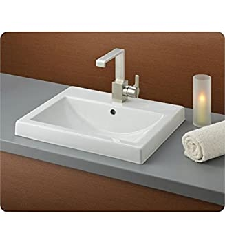 Cheviot 1190 WH 1 White Allure Semi Recessed Basin With Single Hole Faucet