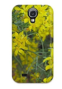 For Galaxy Case, High Quality Yellow Flowers For Galaxy S4 Cover Cases