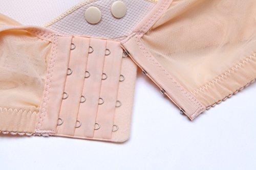 Type Underwear Rims One Nude piece Breastfeeding Nursing Gathered Anti sagging Postpartum Hexingshan Without Mesh Bra wIXEZqIO