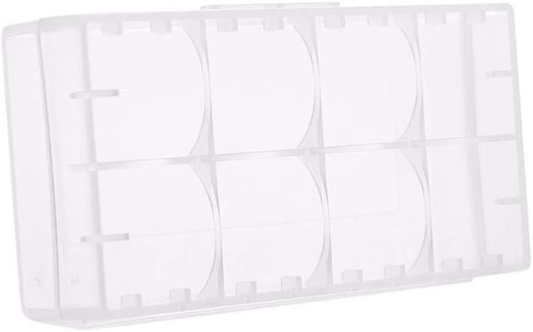 4 DIYEUWORLDL 5pcs Clear 2 16340 Battery Storage Box White Hard Plastic Transparent Battery Case Box Holder Orgainzer 18650//4*CR123A