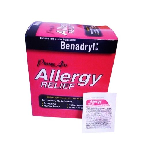 Diphenhydramine Hcl 25 Mg Allergy Medicine and Antihistamine Compare to Active Ingredient of Benadryl Allergy Generic, Dispenser 30 Pouches (Travel Packs) of 2 Tablets