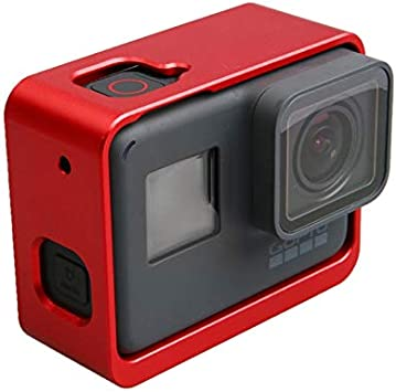 HERO7 Black Color : Red HERO5 Black CHENYANTUB Camera Accessories Aluminum Alloy Border Frame Mount Protective Housing Case Cover for GoPro HERO6 Black Black