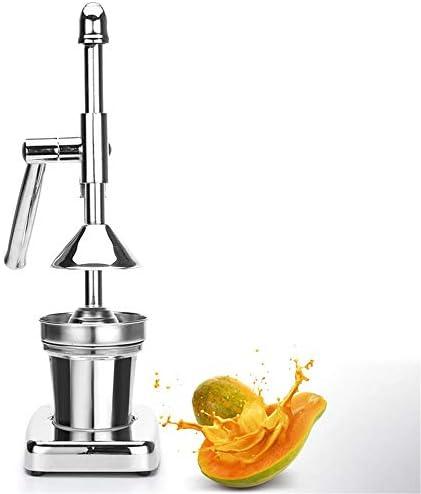 DIYARTS Exprimidor manual de acero inoxidable para el hogar Juicer de frutas Comercial Prensa cítrica sin pelar para uvas Limones Granadas Naranja